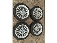 Genuine BMW OEM wheels, perfect condition, winter runflat tyres