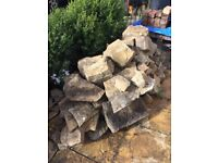 York stone mixed shapes and sizes for rockery small wall garden feature