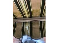 Garden fabric awning- 350 cm in length approx