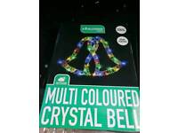 Brand new outdoor coloured bell rope light