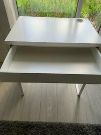 IKEA white Micke desk with draw