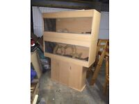 double vivarium with cabinet