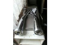 Suzuki Exhaust Pipes Left And Right Cans. (GSX 1400)