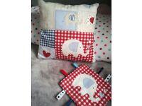 Baby handmade elephant cushion blanket