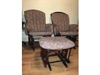 Rocking chairs & stool