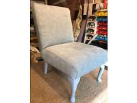 Pale Blue Just Upholstered Bedroom/Nursery Chair