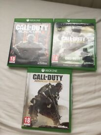 Call of duty black ops 3, infinite warfare legacy edition and advanced warfare