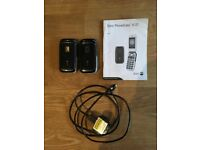 Two Doro PhoneEasy 610 handsets, charger and manual for sale