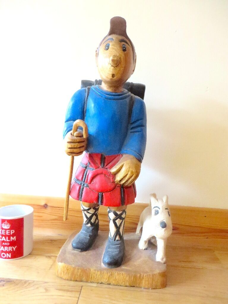 Wooden Tin Tin and Snowy statue in Newport on Tay Fife  : 86 from www.gumtree.com size 768 x 1024 jpeg 79kB