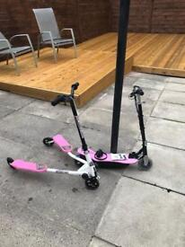 electric and swing scooter