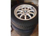 "BMW 3 series 5 stud 15"" alloy wheels, good condition"