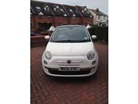 REDUCED RATE!! Fiat 500 1.2 Lounge-Low Mileage- MOT until September 2017