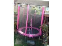 Pink 6ft trampoline not used much with instructions