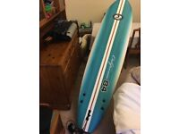 New surfing board with cover