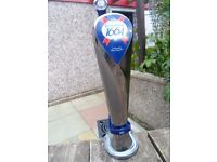 beer pumps tetleys &kronenbourg .