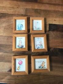 Beautiful Set of Mini Framed Winnie the Pooh