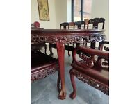 Extendable Rosewood Dining Table & 8 chairs