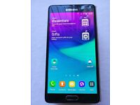Samsung Note 4 Bundle Unlocked great condition, boxed, fast charger lead s view case