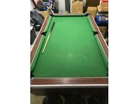 Small pub size pool table