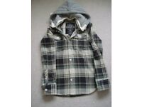 SUPERDRY LADIES LUMBERJACK CHECKERED HOODIE (FITS UK SIZE 10/12)
