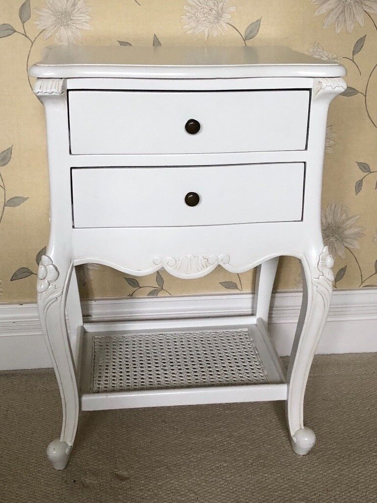 Bedside table french style white painted in oxford oxfordshire bedside table french style white painted watchthetrailerfo