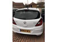 Vauxhal corsa 1.2 limited edition 2012 plate