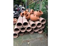 Clay SuperSleve 150 Pipes 1.75m x 150mm + ELbows