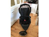 Phil and Teds Sport 2 black double pushchair for sale