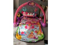 baby piano gym and bed foot barrier