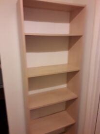 Free-standing bookcase, good condition.