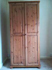 Wardrobe - Pine Finish - Good Condition