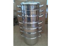 Stainless Steel 7 tier Steamer with Double boiler pan - £15 no offers