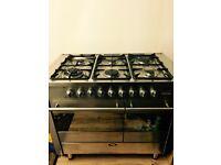 Stainless steel range cooker