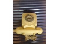FOR SALE:GPO 746 Telephone - Retro Desk Phone with Rotary Dial and volume control handset- Ivory