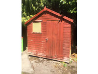 Garden Shed - Sturdy wooden garden shed, sound and waterproof, in reasonable condition 12ft by 8ft