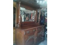 vintage, antique mirrored sideboard dresser.