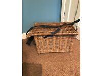 Vintage Wicker fishing basket