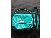 Faux Leather Turquoise Shopper Handbag