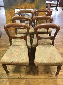 Set 6 Victorian Mahogany Chairs