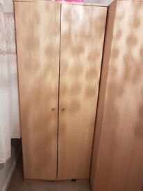 Pine effect large wardrobes