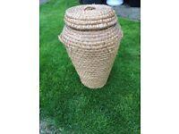 Large wicker basket, £5