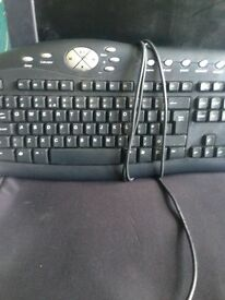 two computer keyboards