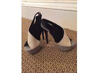 Stunning size 3 peeptoe heels