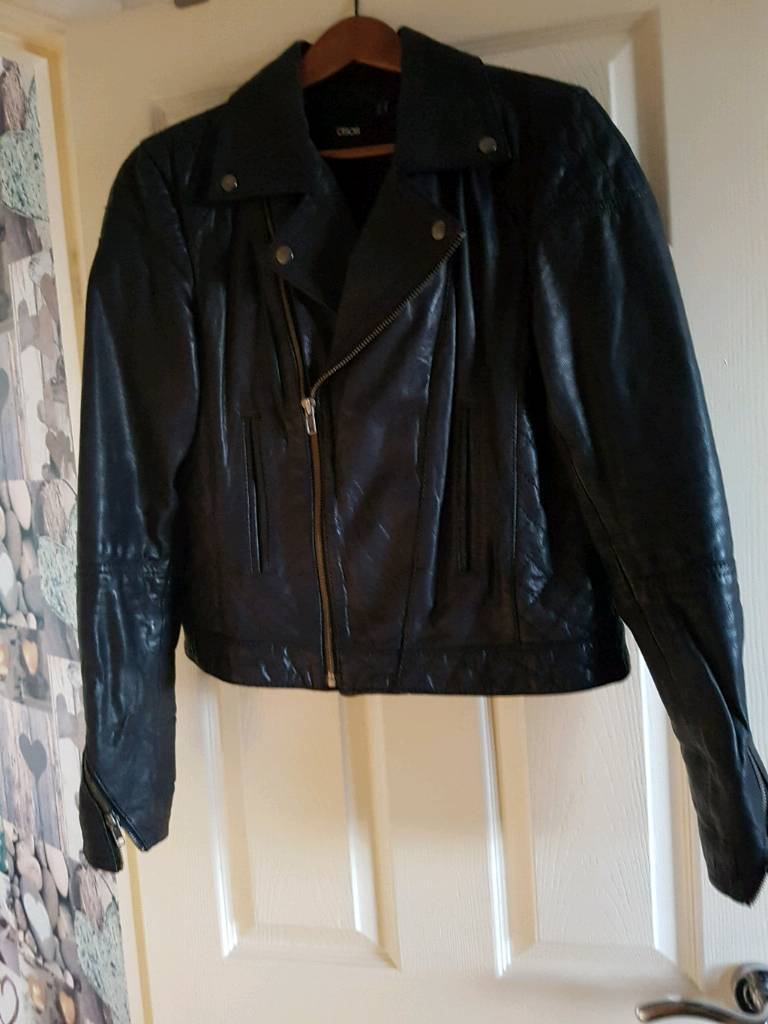 Real leather ladies biker jacket size 14 | in Cramlington ...