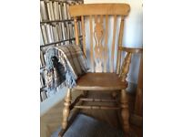 Rocking chair solid antique pine in excellent condition