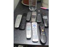 TV REAMOTES AND MIX OFF 8 IN TOTAL