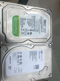2x500g hard drives