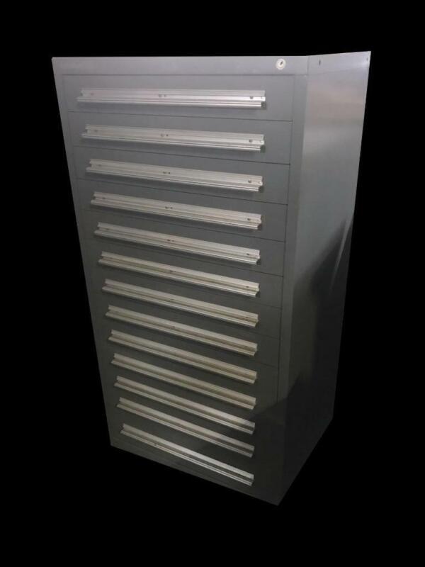 "Stanley Vidmar 13 Drawer Industrial Tool Cabinet 30"" X 27.5"" X 59"""