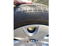 BMW wheel covers and tyres