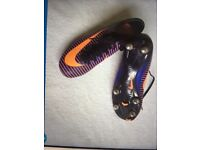 Nike Mercurial football boots size 6 excellent condition